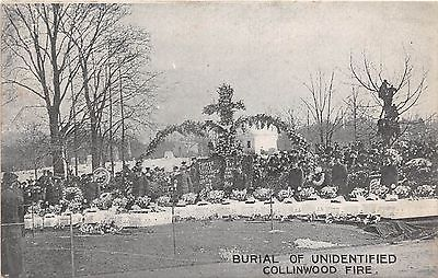 Ohio-Postcard-c10-COLLINWOOD-Cleveland-SCHOOL-FIRE-DISASTER-Unidentified-Burial