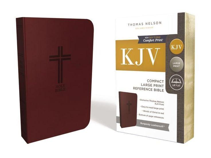 KJV, Reference Bible, Compact, Large Print, Imitation Leather, Burgundy, Red Letter Edition, Comfort Print - Large or Giant Print Bibles - Bibles