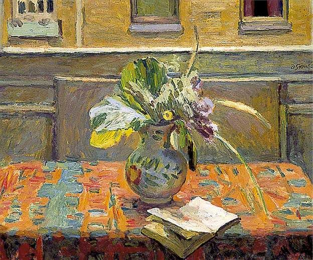 DUNCAN GRANT Flowers in Front of a Window (c.1956)