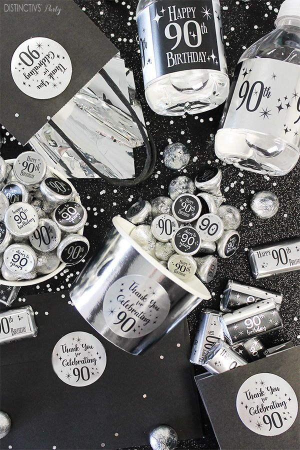 Throw A 90th Birthday Party In Silver And Black 90thbirthday In
