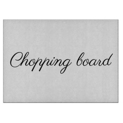 Chopping Board - Glass Chopping Board - black and white gifts unique special b&w style