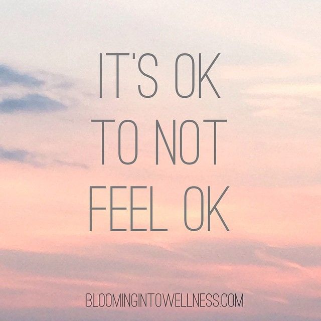 If I'm not feeling ok...with my food, my body, if my depression or anxiety is bad....it's ok for me to feel my feelings. It's ok to have bad days, it's ok if I can't get to the gym or I need to be still. #bodyimage #selfacceptance #depression