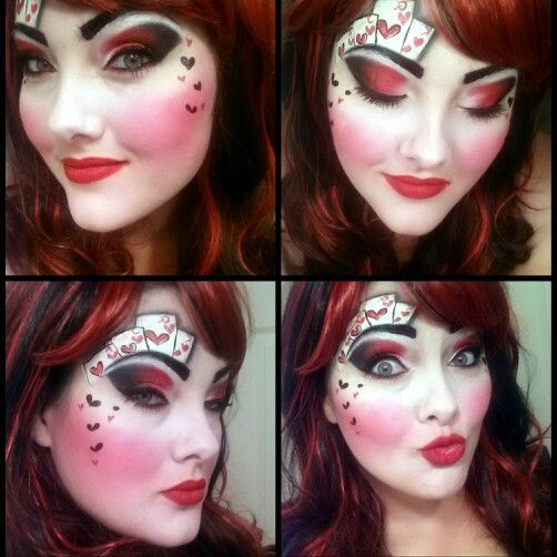 red queen makeup - Google Search