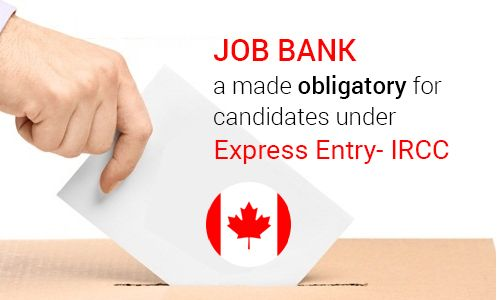 #JobBank a Made Obligatory for Candidates Under #ExpressEntry - IRCC. Read more..#MoreVisas #CanadaImmigration #jobs #CanadaPR #Jobsincanada  https://www.morevisas.com/immigration-news-article/job-bank-a-made-obligatory-for-candidates-under-express-entry-ircc/5168/