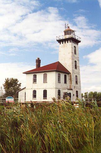 Lake Huron: Saginaw River Rear Range Light Lighthouse, Michigan