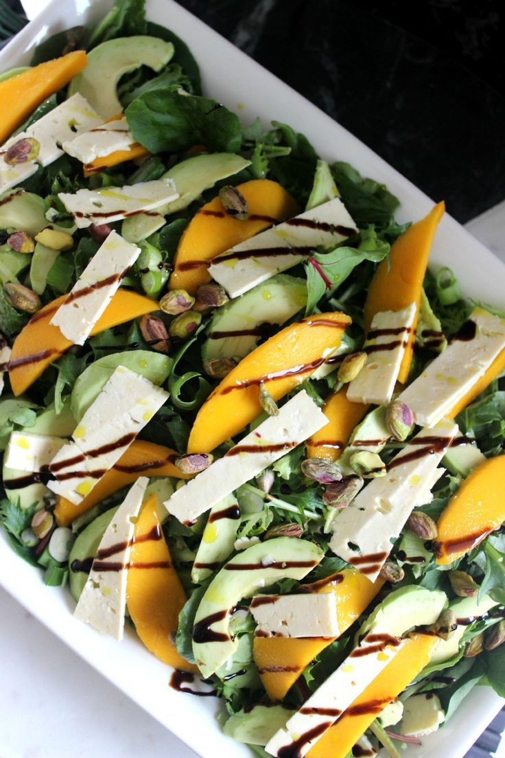 Mango and feta Summer salad - A Beyond delicious salad and the perfect barbecue salad to share with guests.  A must-have recipe this Summer! #summersalad