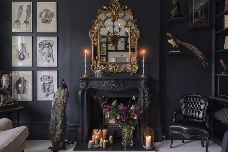 Kempe SW16 - dark painted lounge - london houses - shootfactory location