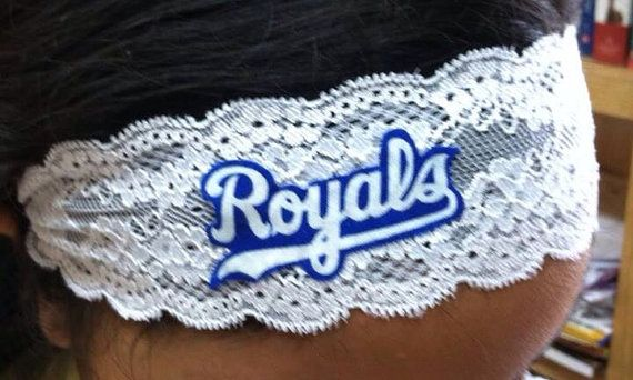 Kansas City Royals Elastic Lace Headband by HomerunHottie on Etsy, $12.00