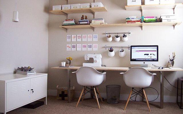 Decofilia Blog   Zona de trabajo para dos