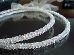 Swarovski Crystal and Pearl Stefana, $220.00 at Greek Wedding Shop ~ http://www.greekweddingshop.com