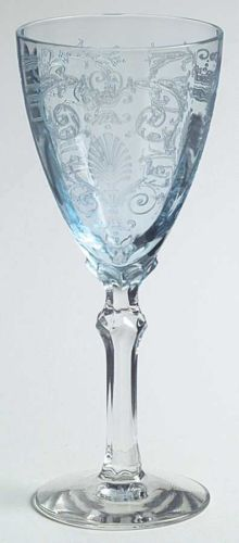I LOVE this Fostoria VERSAILLES BLUE Wine Glass! The color is so pale and gorgeous!