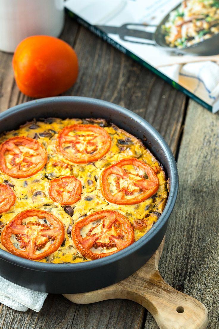 Vegan Frittata Puttanesca from the cookbook One Dish Vegan