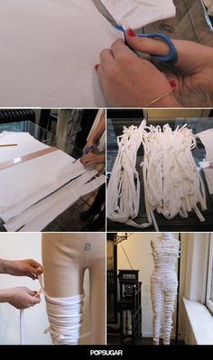 Still Looking For a Halloween Costume? Here's a Quick and Cool Mummy DIY                                                                                                                                                                                 More