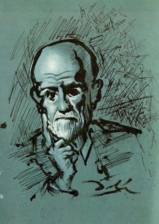 Portrait of Sigmund Freud by Dalí