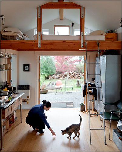 Such a beautiful garage conversion, also featured in a NY Times article…