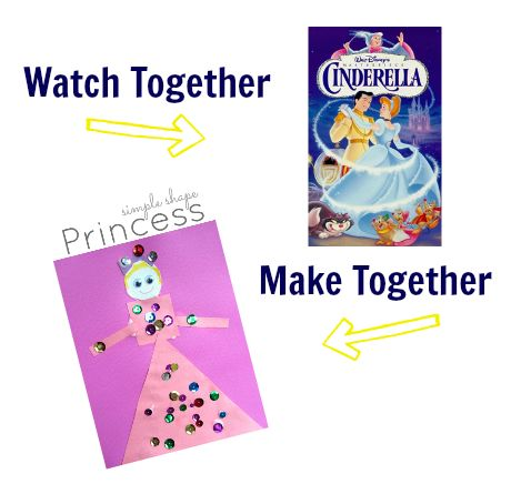watch & make cinderella craft, Use for letter P theme