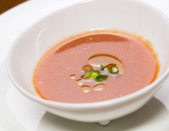 亜麻仁油かけトマトの味噌汁