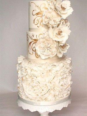 Ruffle Wedding Cakes - Wedding and Bridal Inspiration