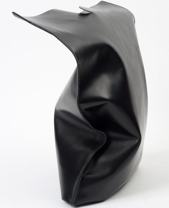 fluo bag black shoppingbag made of soft calf leather by fluoshop