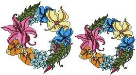 Exotic Flowers Font - Letter O