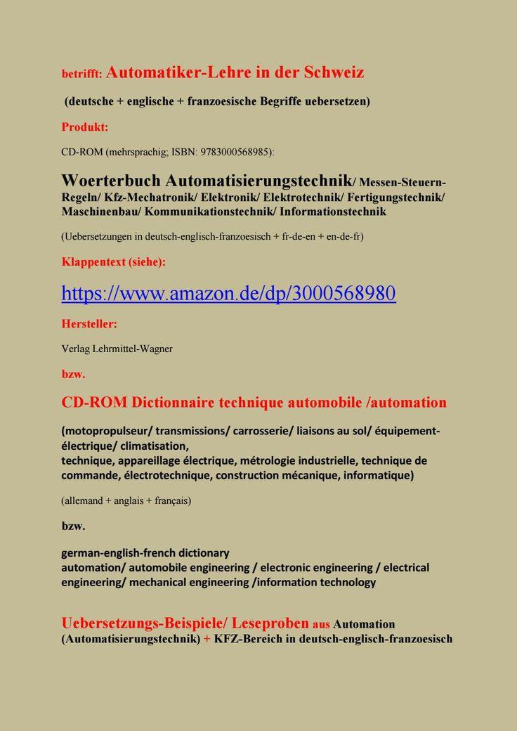16 best Automatiker: Technische Berufe Elektroniker Mechatroniker ...