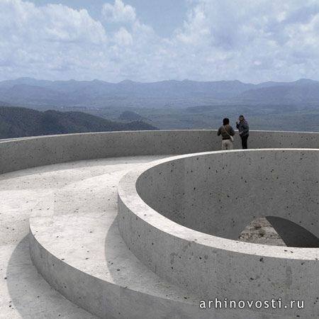 Смотровая площадка для места паломничества. Гвадалахара, Мексика ...