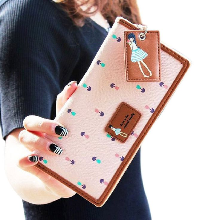 BESSKY 2015 Fashion Lady Women Long Purse Clutch Zip Bag Card HolderWallet (Pink) * Insider's special review you can't miss. Read more  : Best Travel accessories for women