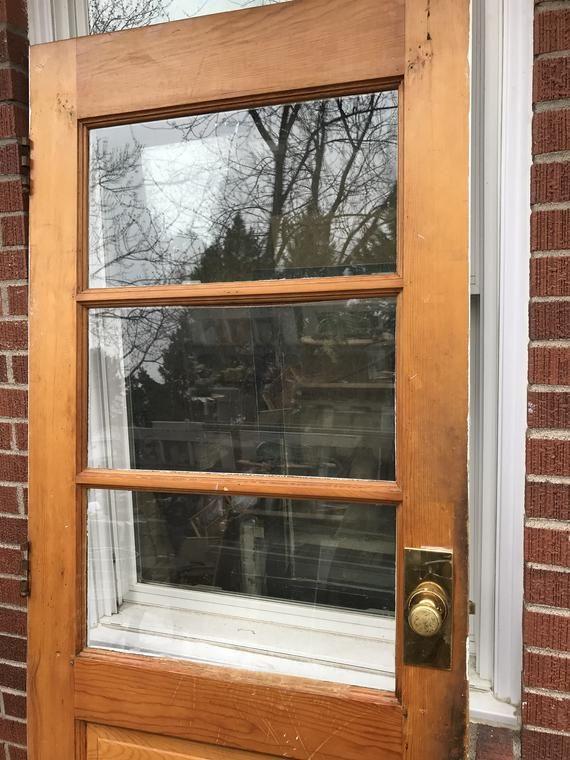 Antique Exterior Solid Wood Window Door Entry Front Door Etsy With Images Old Door Decor Exterior Doors Glass Door