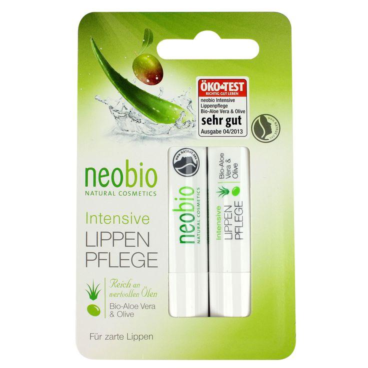 Neobio lippenbalsem duo beschermt en verzorgt gevoelige lippen met aloe vera en olijfolie. 100% natuurlijk! Duo-verpakking