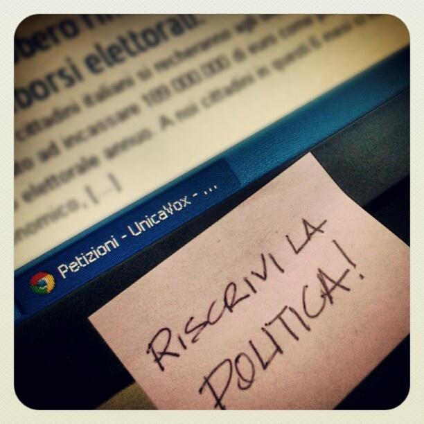 Unicavox social network per riscrivere la politica.