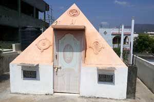 Sri Venkateshwara Pyramid Meditation Center,year of construction : 2011 size : 11ft x 11ft (roof top) | capacity : 15 persons cost incurred :  50,000 | type of structure : RCC private use technical support : S V Vijaya Krishna, +91 99080 42285  contact : M Venkatammani Naidu, +91 94932 23951 address : 8-64/1, 4th street, Sri nagar, Satya Narayanapuram, Tirupati http://www.pyramidseverywhere.org/pyramids-directory/pyramids-in-andhra-pradesh/rayalaseema/chittoor-district