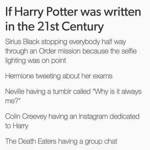 GUYS - THE DEATH EATERS HAVING A GROUP CHAT. >>> I'm done.