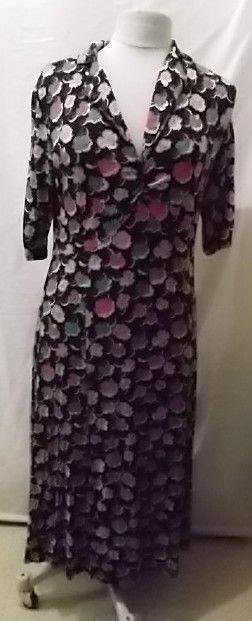 CATH KIDSTON BLACK DRESS BRIGHT FLORAL UK16 PLUS SIZE
