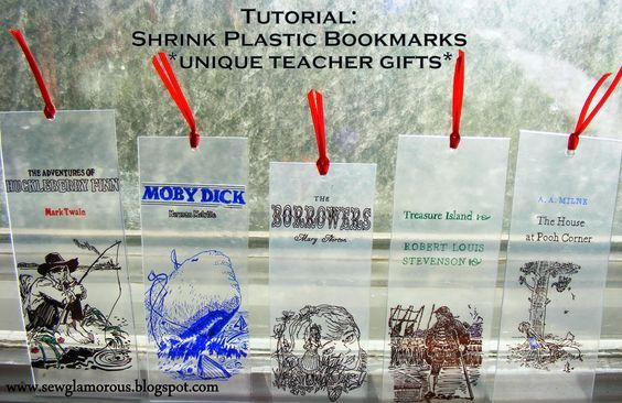 Sew Glamorous: Tutorial: Shrink Plastic Bookmarks (this would be cute to do with JW.org and maybe Caleb and Sophia on tif too. :) --Misty)