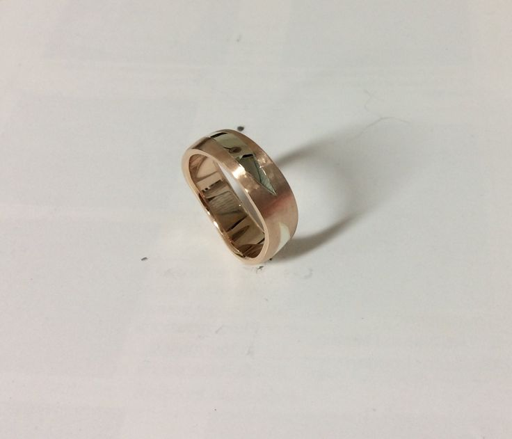 Hand Crafted Rose Gold Wedding Band