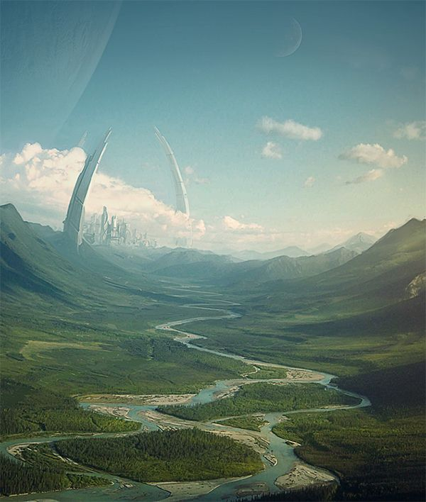 Matte painting - portfolio by Tomas Muller, via Behance