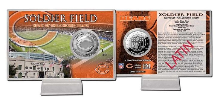 Chicago Bears Silver Coin Card - Stadium