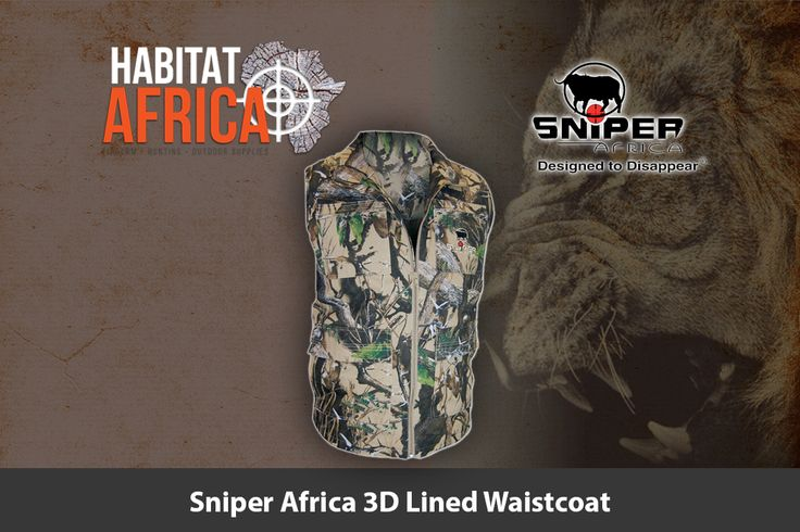 Sniper Africa men's 3D lined waistcoat is specifically designed to…