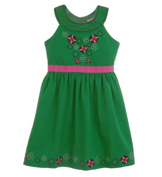 Infant Cotton Poplin Dress Ensemble