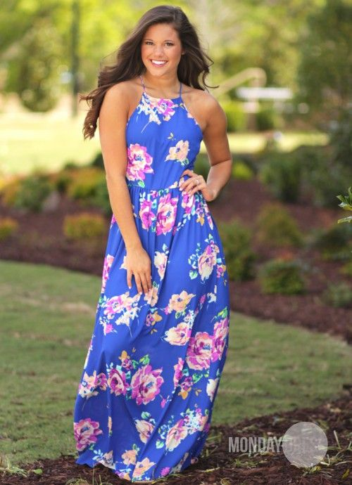 Blessings Maxi Dress in Royal | Monday Dress Boutique