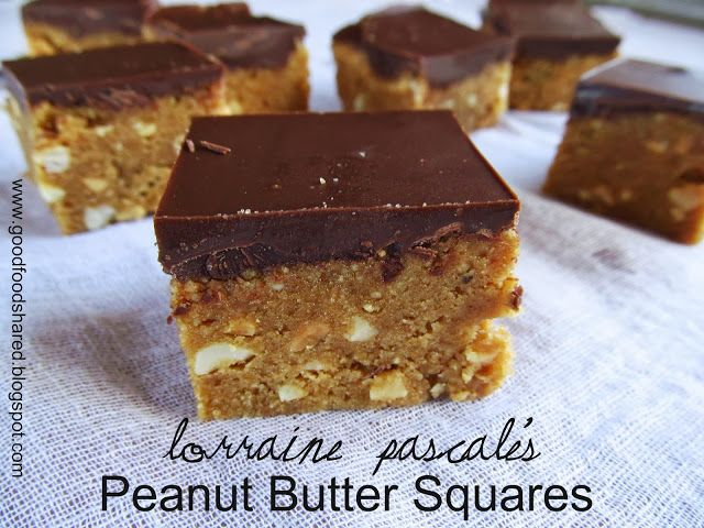 Lorraine Pascale's Peanut Butter Squares. They are really too easy to make!!!!