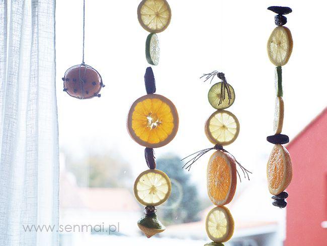 DIY na ostatnią minutę: Ozdoby z suszonych pomarańczy