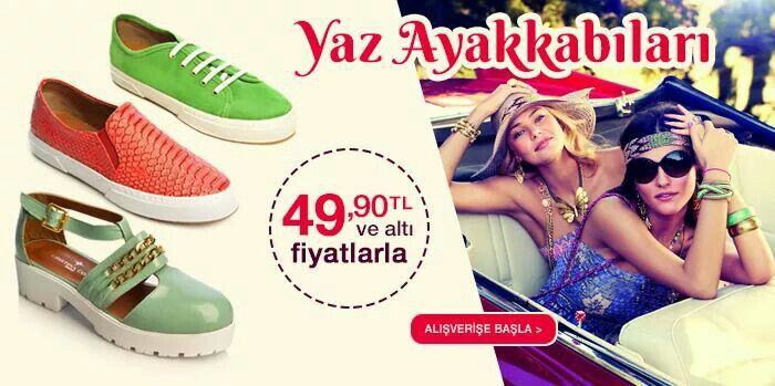 Ayakkabılar yaz ayakkabılarını uygun fiyata alın...www.mallbudur.com