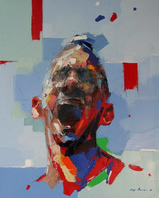 Ryan Hewett - Can you hear me now. Oil and acrylic on canvas, 80x64 cm
