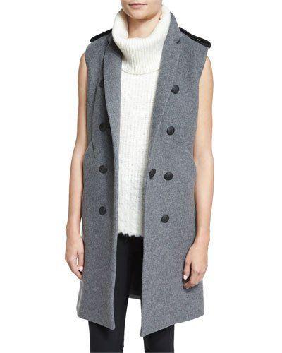 Rag+Bone+Ashton+Tailored+Wool+Blend+Vest+Heather+Gray+|+Clothing