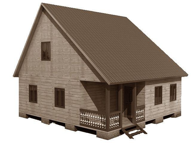 Готовый проект каркасный дом 8x8 от Строительной компании «ДОМ МЕЧТЫ».