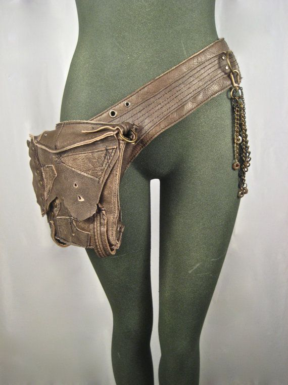 leather hip bag, thigh bag, burning man, tank girl, mad max, utility belt, bondage, apocalyptic, fetish : Renegade Icon designs