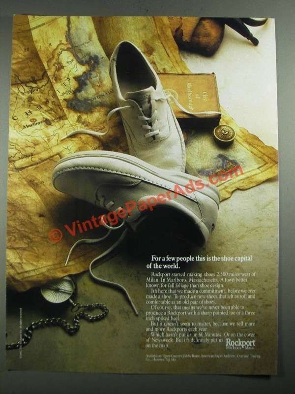 1987 Rockport Shoes Ad - This is The Shoe Capital of the World