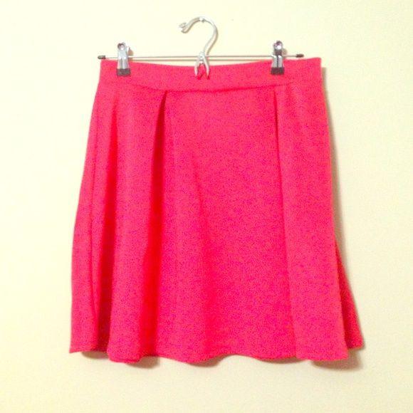 Pleated circle skirt Red-orange pleated circle skirt Skirts Circle & Skater