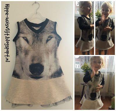 kussensloop jurk (action en zeeman) DIY little girls dress